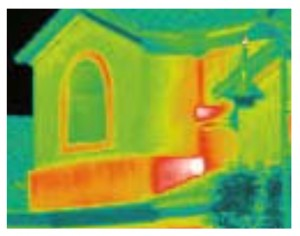 SIPs dramatically reduce Thermal Bridging in was as shown with solid green walls